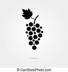 black grapes icon with shadow