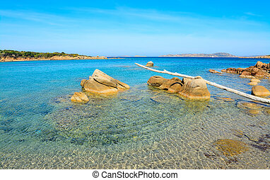 rocks and clear water in Conca Verde, Sardinia