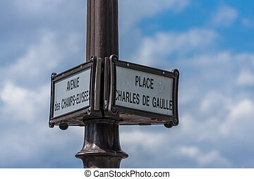 street name sign on post