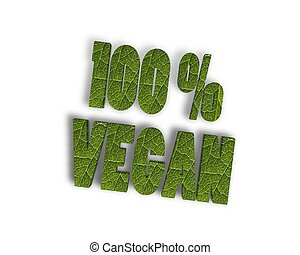 100 vegan 3d word