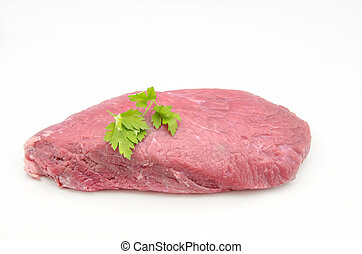 Piece of fresh raw beef