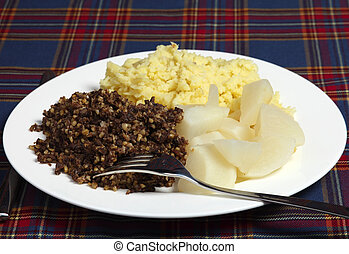 Burns night supper - A Burns Night supper of haggis, tatties...