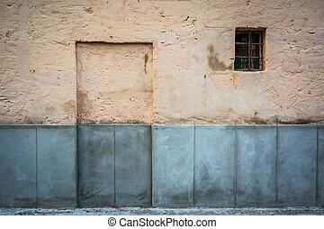 Bricked door