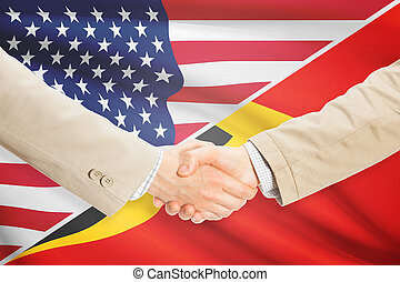 Businessmen handshake - United States and East Timor -...