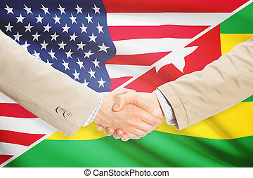 Businessmen handshake - United States and Togo - Businessmen...