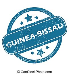GUINEA-BISSAU round stamp - Round rubber stamp with word...