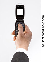 Hand and cell phone