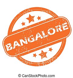 Bangalore round stamp - Round rubber stamp with city name...