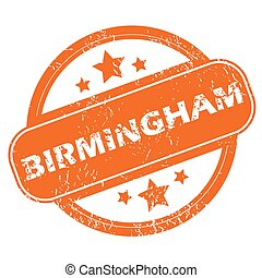 Birmingham round stamp - Round rubber stamp with city name...