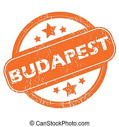 Budapest rubber stamp - Round rubber stamp with city name...