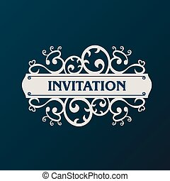 Label vector frame. Vintage banner background - Label vector...