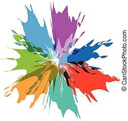 Splash burst color paints logo - Splash burst color paints