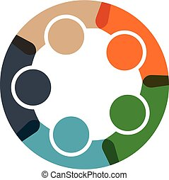 People business in a circle logo - People business in a...