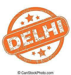 Delhi rubber stamp - Round rubber stamp with city name Delhi...