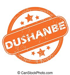 Dushanbe round stamp - Round rubber stamp with city name...