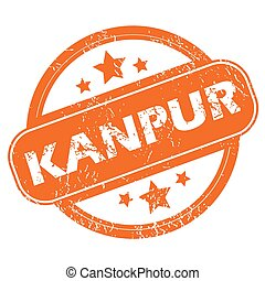 Kanpur round stamp - Round rubber stamp with city name...