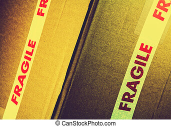 Fragile - Cardboard packaging with fragile tape