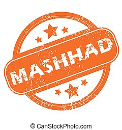 Mashhad round stamp - Round rubber stamp with city name...