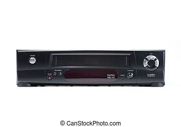 video cassette recorder isolated on white background