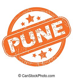 Pune round stamp - Round rubber stamp with city name Pune...