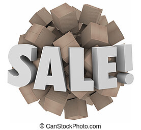 Sale Word Cardboard Boxes Inventory Overstock Wholesale...