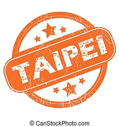 Taipei round stamp - Round rubber stamp with city name...