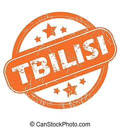 Tbilisi round stamp - Round rubber stamp with city name...