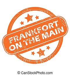 Frankfort on Main round stamp