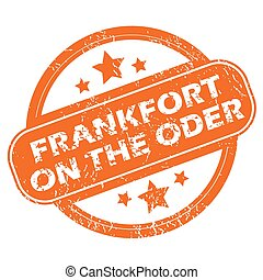 Frankfort on Oder round stamp