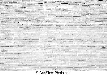 White grunge brick wall texture background - White grunge...
