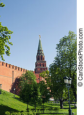 Borovitskaya Tower of Moscow Kremlin - The Borovitskaya...