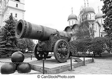 Tsar-pushka King-cannon in Moscow Kremlin. Russia