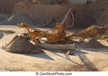 conveyor belt of gravel for cement manufacture