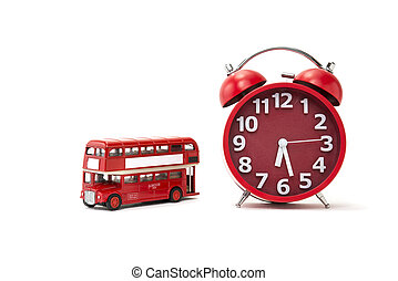 Bus Time - A retro alarm clock with a red bus