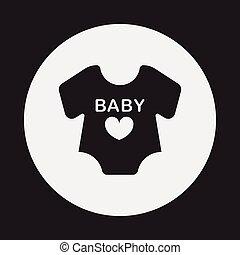 baby clothes icon