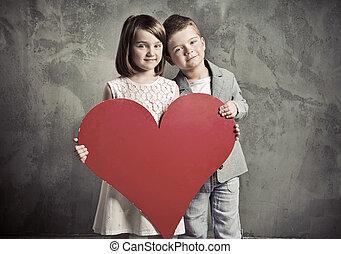 Portrait of two cute children - Portrait of two cute kids