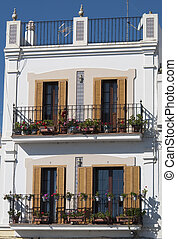 spanish balcony in a village of Andalusia