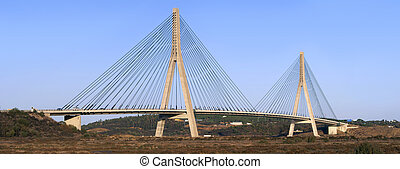 international bridge in the Guadiana river between spain and...