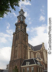 West Church in Amsterdam Netherlands - Westerkerk Western...