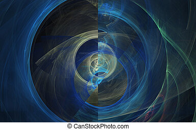 Blue Abstract Motif