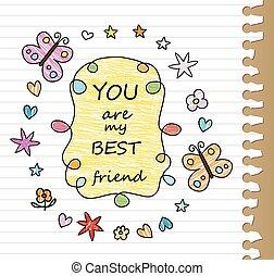 best friend drawing