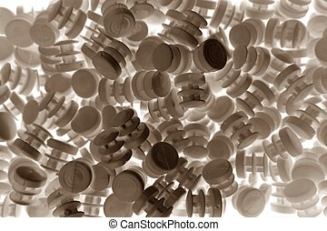 abstract plastic spare part for background used