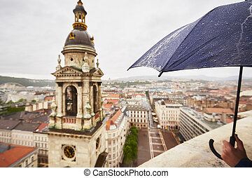 Rain in the city - Budapest, Hungary