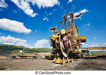 Coal mine - Huge mining machine in the coal mine