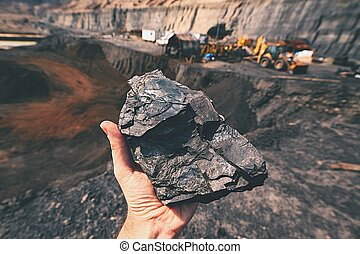 Coal mine - Coal on the palm - Czech Republic