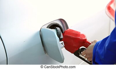 Filling fuel into a car