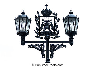 Novgorod street light - Forged street lights with Novgorod...