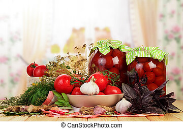 Canned and fresh tomatoes - Tasty canned and fresh tomatoes...