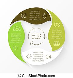 Vector linear circle eco infographic Ecology template for...