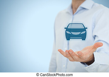 Rent a car - Car rental or carsharing service concept....